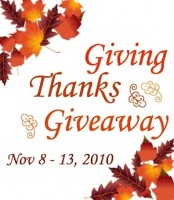 Win Prizes: The Giving Thanks Giveaway Is Here