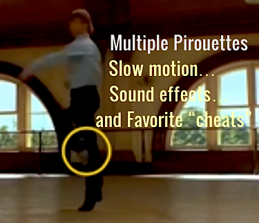 "Multiple Pirouettes – Slow Motion Reveals A Favorite ""Cheat"""