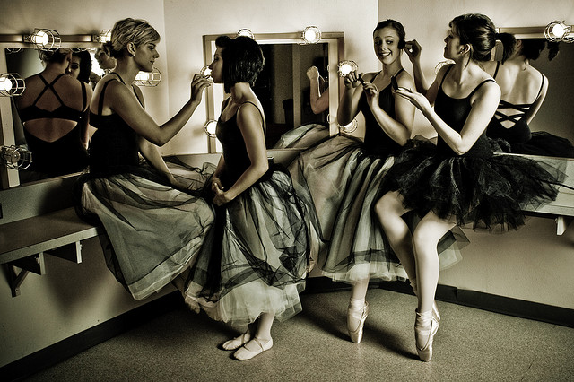 Ballet dancers in dressing room