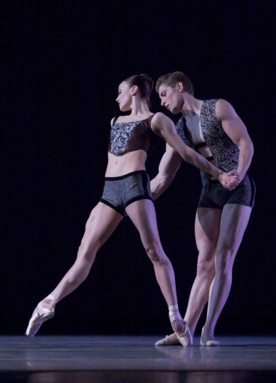 "Kathi Martuza and Ronnie Underwood dancing in ""Almost Mozart."""