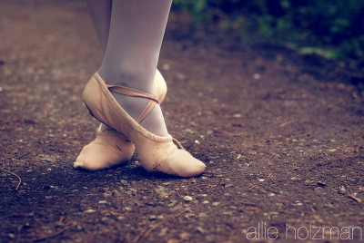 "Where you should NOT wear your slippers if you want to keep them clean. ""ballet shoes"" by Allie Holzman is licensed CC BY-ND 2.0"