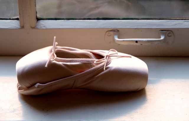 "They'll never look this good again.""new pair of pointes"" by mararie is licensed CC BY-SA 2.0"