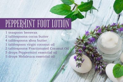 Pampered Dancer DIY Peppermint Foot Lotion