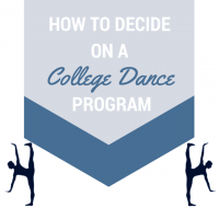 How To Decide on a College Dance Program
