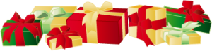 A collection of wrapped gifts