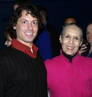 Photo of Carmen deLavallade with Mark Panzarino at the 2010 bessies