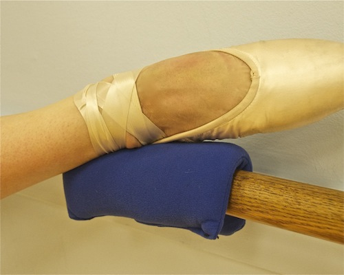 The Barre-Tender padded cushion for stretching at the barre