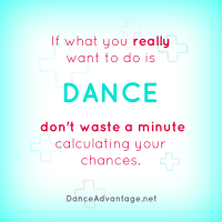 Do you really want to dance?