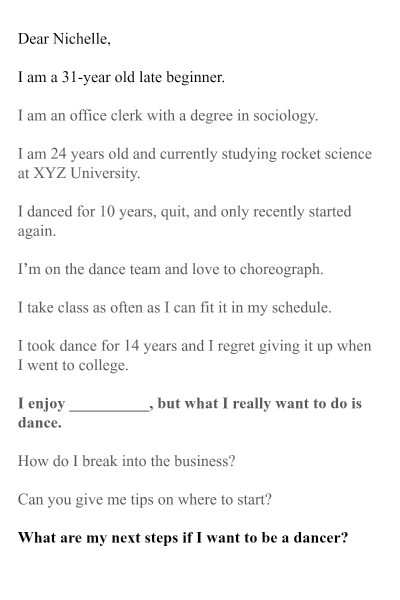 What I really want to do is dance. Is it possible?