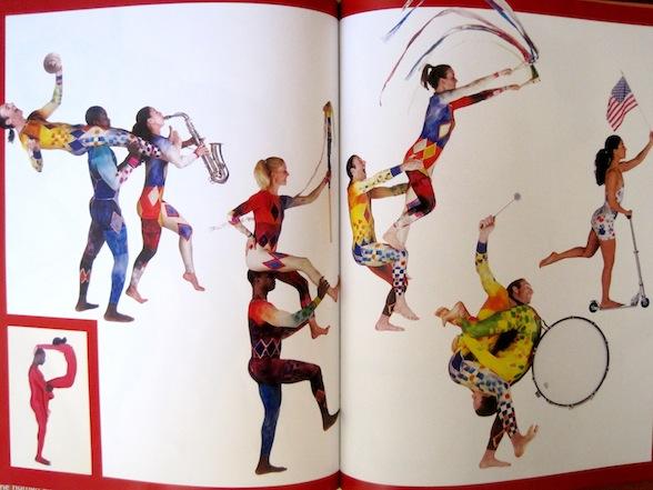IMAGE Pilobolus Dance in The Human Alphabet picture book (letter P - parade) IMAGE