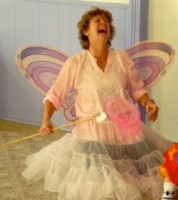 IMAGE Alexandra of Hullaballoo Danceshop looks jovial in butterfly wings as she waves a magic wand over her creative dance class. IMAGE