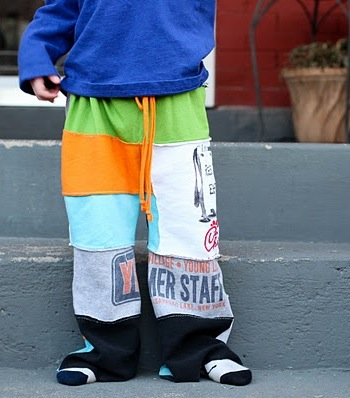 IMAGE Turn old t-shirts into pajama-style pants IMAGE