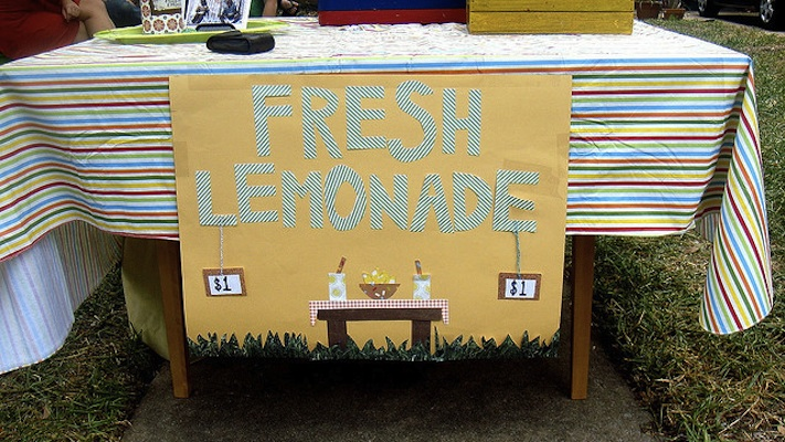 IMAGE A Colorful Lemonade Stand IMAGE