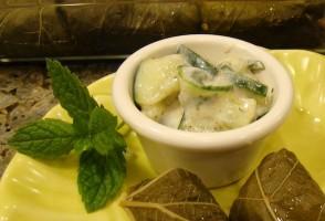 IMAGE Cucumber Mint Salad IMAGE