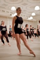 IMAGE An audition participant at The School at Jacob's Pillow In-Person Auditions IMAGE