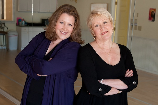 IMAGE Kathy Blake and Suzanne Blake Gerety in the studio IMAGE