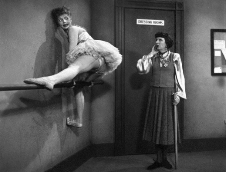 I Love Lucy - hanging on the barre