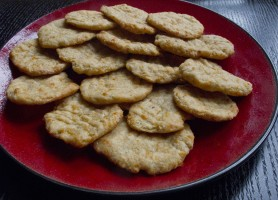 Photo of homemade cheese crackers
