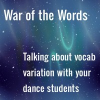 Talking about vocabulary variations with dance students // Background by Patrick Hoesly