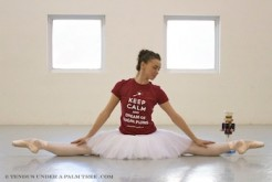 Miami City Ballet dancer models the Keep Calm and Dream of Sugar Plums tee