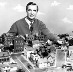 Fred Rogers with the Neighborhood Seen on his show.