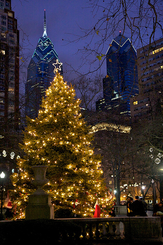 Christmas Tree in Rittenhouse Square, Philadelphia