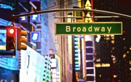 Photo of New York City Broadway street sign