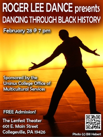 Roger Lee Dance Ursinus Show Flyer