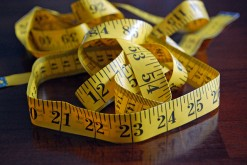 A pile of measuring tape