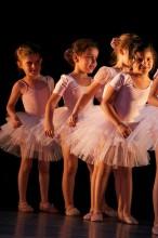 Small girls during a dance recital