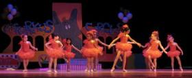 Young ballerinas performing in a dance recital
