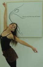 photo: Janaea Rose Lyn, dancer: Liz Malloy, Artwork: Laura Higgins Palmer