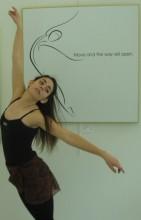 photo: Janaea Rose Lyn, dancer: Liz Malloy, Artwork: Laura Higgins Palmer