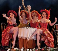 IMAGE: Artists of the Houston Ballet perform The Merry Widow by Ronald Hynd. Photo by Amitava Sarkar.