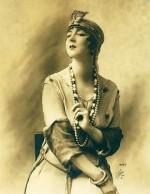 Ruth St Denis in costume 1917