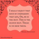 Mikhail Baryshnikov on rejecting comparison