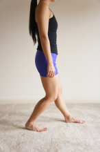 Stretching the achilles and calf