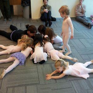 Preschool dancers head to head with their teacher