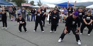 Special needs dancers, the MVD Super Stars, in performance