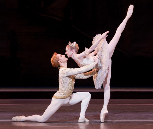 Sarah Lamb with Steven McRae in the Royal Ballet's Sleeping Beauty. Photo by Johan Persson/ROH