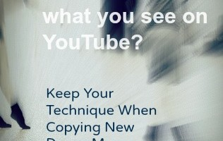 Keep your technique when copying new dance moves