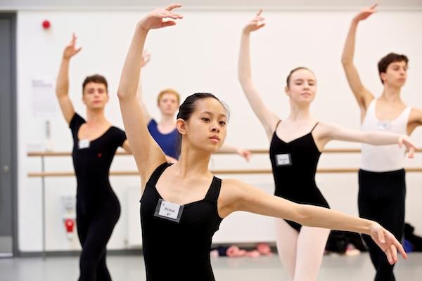 Dancers at the Genée International Ballet Competition