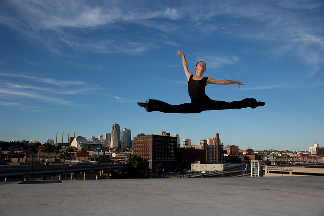 Dancer Meagan Swisher Does a Grand Jete
