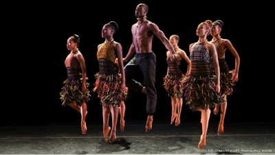 """Alvin Ailey American Dance Theater performs """"LIFT,"""" a piece choreographed by Aszure Barton. It premiered at New York City Center in December 2013.  Photo by Paul Kolnik."""