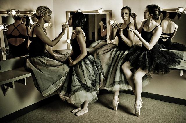 Ballet dancers in dressing room