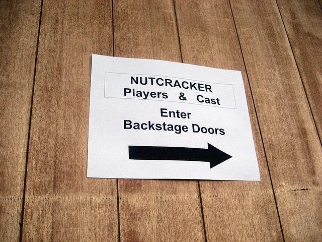 Backtage door