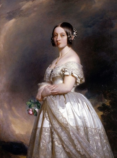 Portrait of Young Queen Victoria