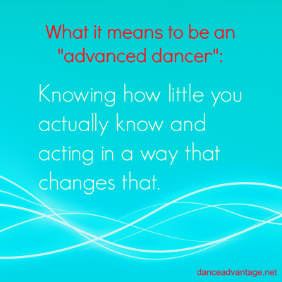 What it means to be an advanced dancer