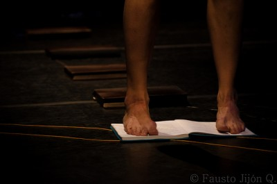 Modern Dance Feet stand on a book
