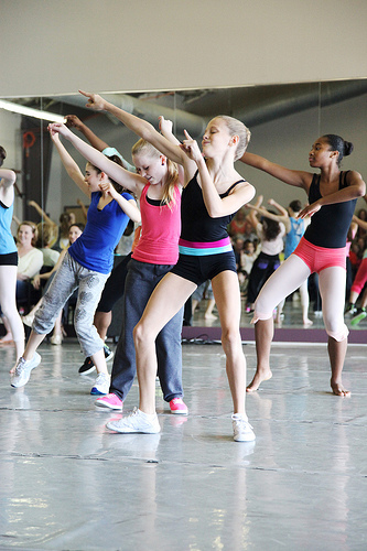 hip hop class at Alabama Ballet Summer Intensive